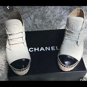 Chanel hightop espadrille